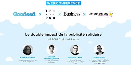 Le double impact de la publicité solidaire : Optic 2000 x Téléthon x TF1PUB billets