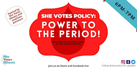 She Votes Policy: Power to the Period! tickets
