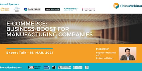 """Expert Talk """" E-Commerce: Business-Boost for manufacturing companies """" Tickets"""