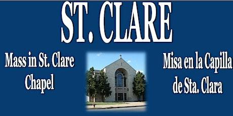ST. CLARE -March 7, 2021 - MISA DOMINICAL/SUNDAY MASS boletos