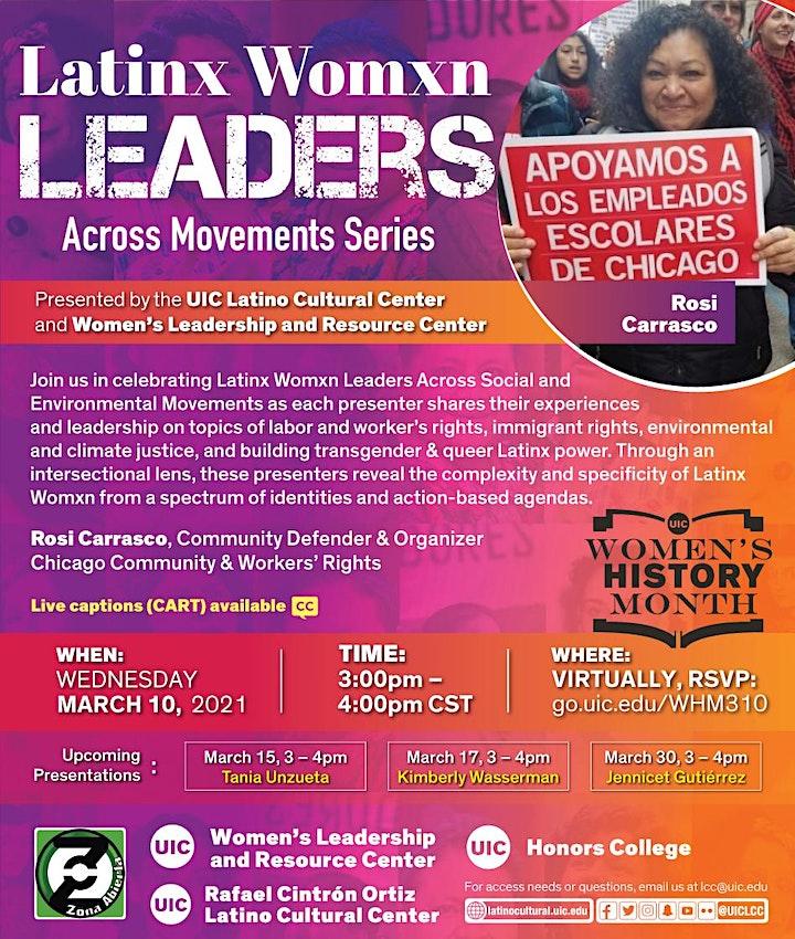 Zona Abierta: Latinx Womxn Leaders Across Movements – Rosi Carrasco image