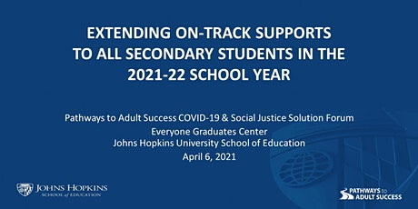 Extending On-Track Supports to All Secondary Students tickets
