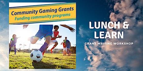 Community Gaming Grant Workshop biglietti