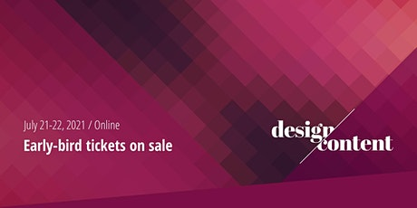 The Design & Content Conference 2021 tickets