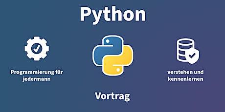 Vortrag: Python – Programmieren verstehen für jedermann Tickets