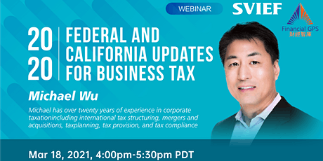 2020(Tax Year) Federal and California Updates for Business Tax tickets