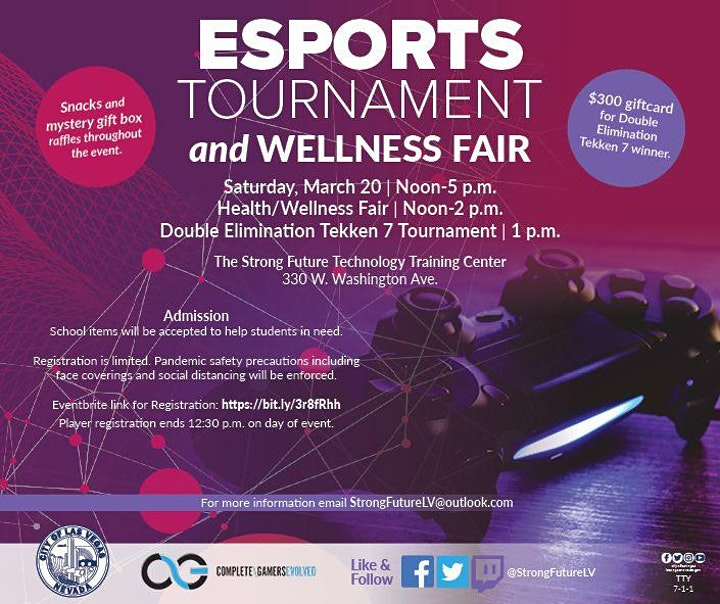 Strong Future Technology Training Center ESports Tournament & Wellness Fair image
