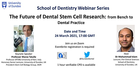 The Future of Dental Stem Cell Research: from Bench to Dental Practice tickets