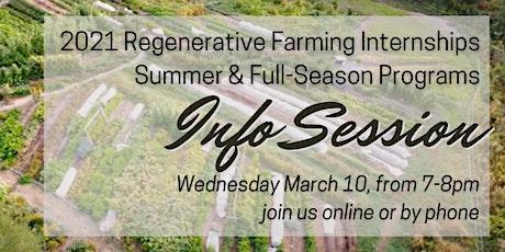 Hayes Farm Regenerative Farming Internships Info Session #2 tickets