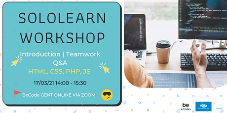 Sololearn workshop + Teamworking  | 17/03/2021 14:30 - BeCode Ghent tickets