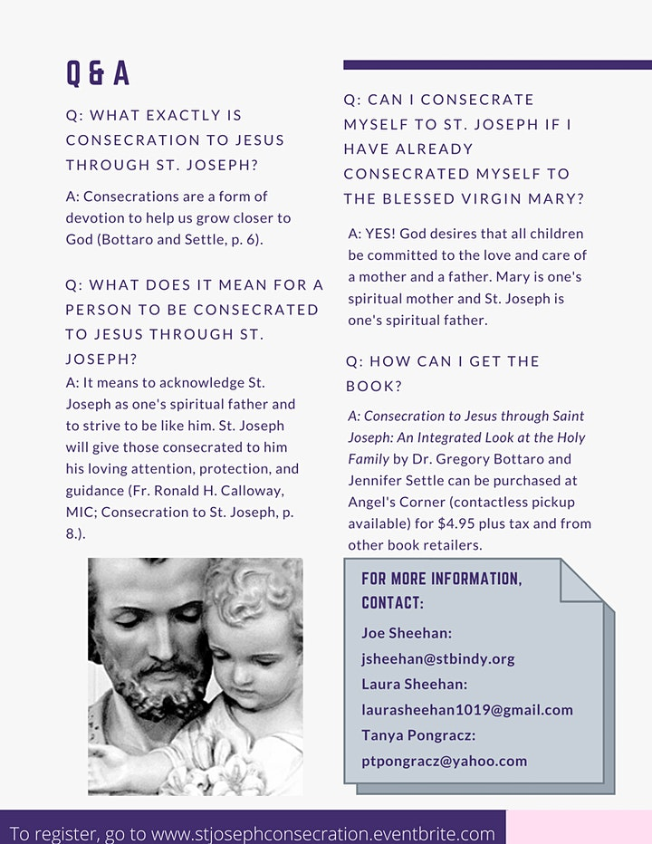 Consecration to Jesus through St. Joseph image