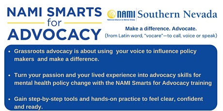 NAMI Smarts for Advocacy Module 4- Medication: Protecting Choice tickets