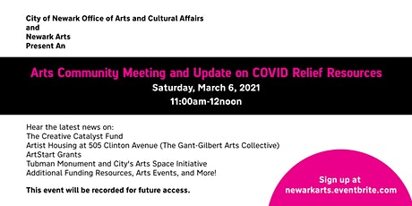 Arts Community Meeting and Update on COVID Relief Resources tickets