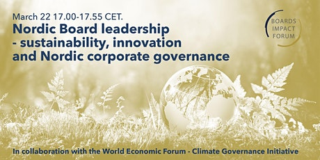 Nordic Board leadership -sustainability, innovation & corporate governance tickets