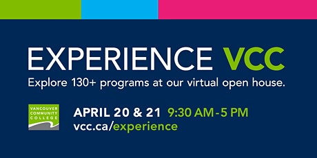 Experience VCC Spring 2021 Virtual Open House tickets