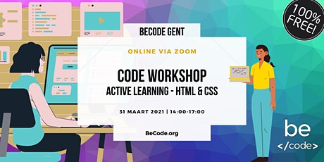 FREE & ONLINE | HTML & CSS Workshop by BeCode Gent tickets