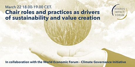 Chair roles and practices as drivers of sustainability and value creation tickets