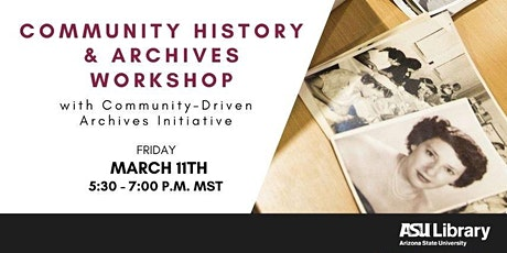 Community History and Archives Workshop tickets