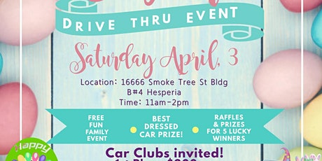 High Desert Second Chance Easter Drive Thru Event CAR/VENDOR PARTICIPATION tickets