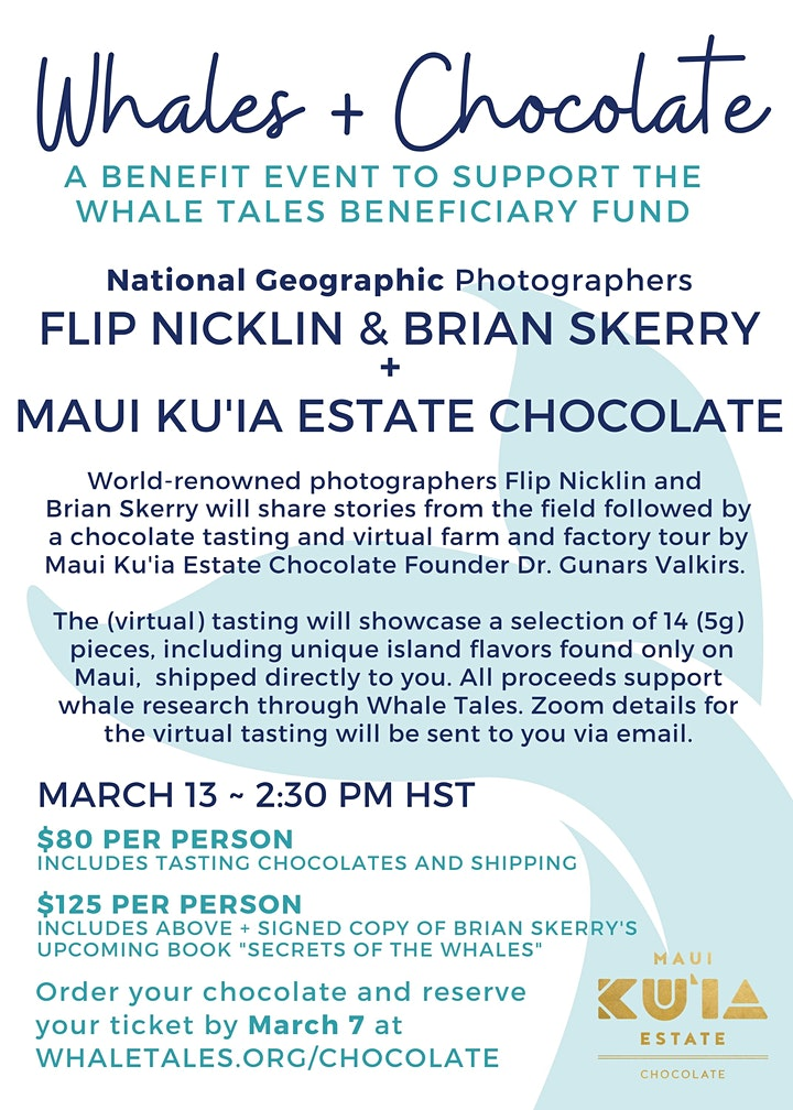 Whales + Chocolate: A Benefit Event image