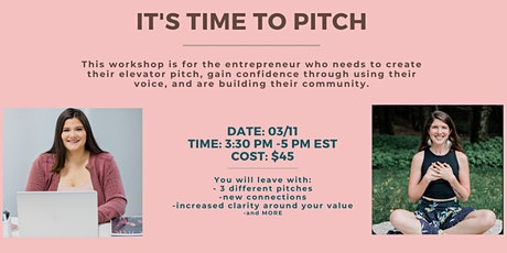 It's Time to Pitch - Create Your Perfect Pitch! tickets