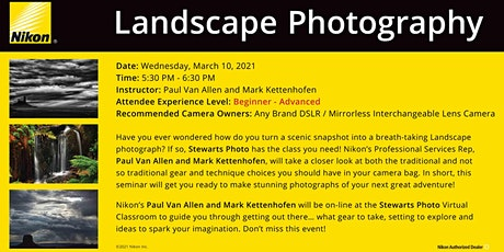 Landscape Photography with Nikon tickets
