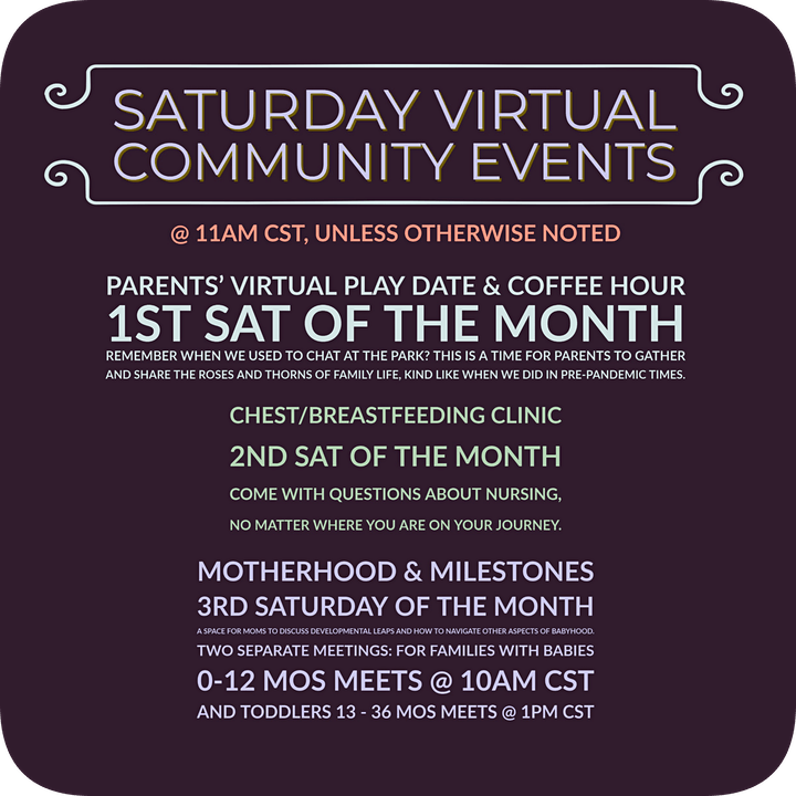 Saturday Virtual Community Events image