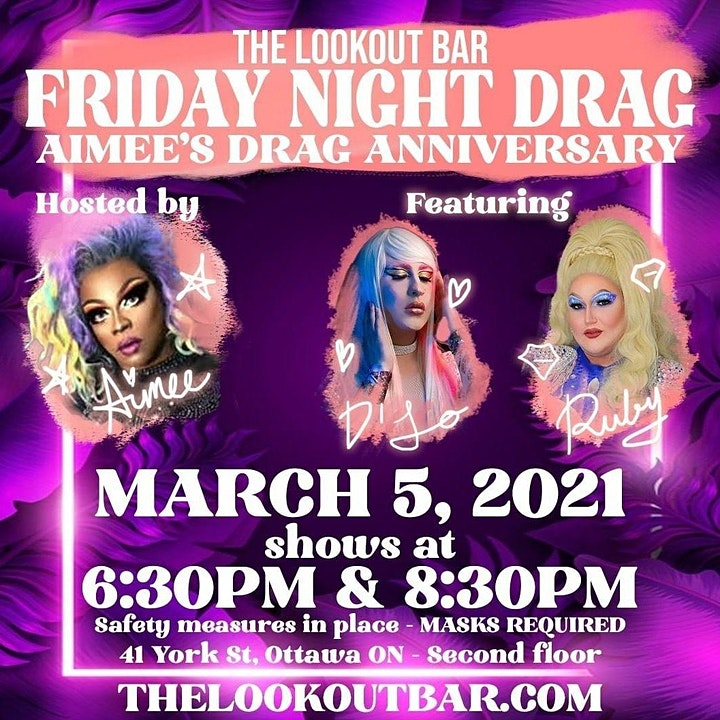 Friday Night Drag: Aimee Yonce feat. Ruby Foxglove and D'Lo Vtton - 8:30pm image