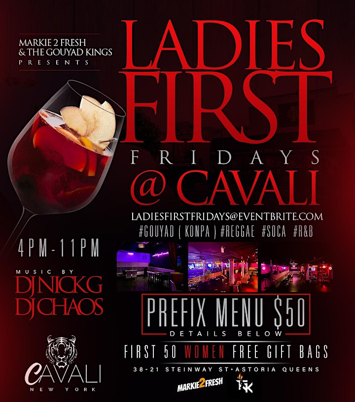 LADIES FIRST FRIDAYS @ CAVALI #KOMPA #R&B #REGGAE #SOCA #MARKIE2FRESH image