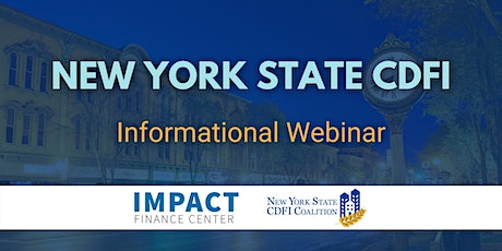 New York State CDFI Investor Club Informational Webinar tickets