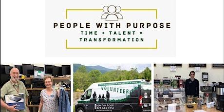 Volunteer Orientation: People with Purpose 3-18-21 tickets