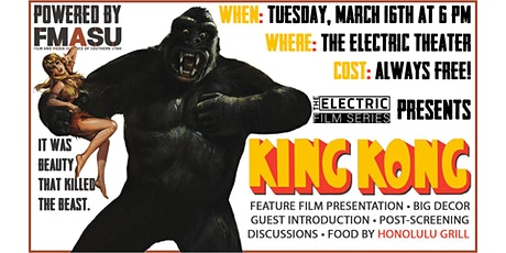 KING KONG (1933) Screening @ The Electric Theater tickets