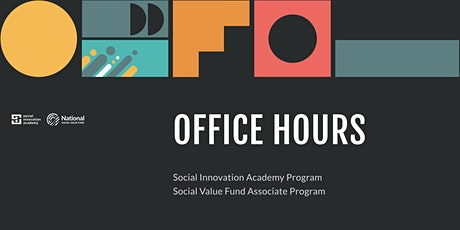 Office Hours: HSBC Social Innovation Academy & National Social Value Fund tickets