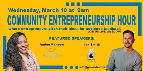 Community Entrepreneurship Hour - March 2021 Meetup tickets