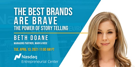 The Best Brands Are Brave: The Power of Storytelling with Beth Doane tickets