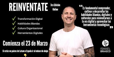 REINVENTATE  - 3er Edición - Participantes de  Argentina entradas