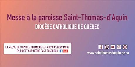 Messe 10 personnes St-Thomas-d'Aquin - Mercredi 10 mars 2021 Sous-sol billets