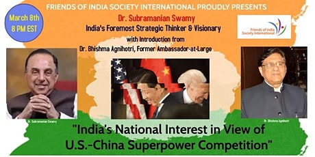 India's National Interest in View of U.S.-China Superpower Competition tickets