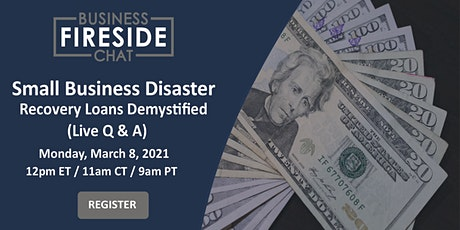 [Virtual] Small Business Disaster Recovery Loans Demystified (Q&A) tickets