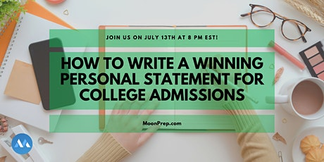 Webinar: How To Write A Winning Personal Statement for College tickets