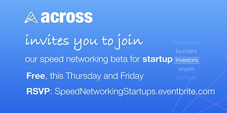 Speed Networking for Startups tickets