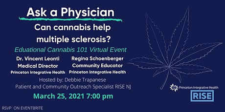 """""""Ask a Physician""""- Dr. Vincent Leonti MD, Can cannabis help MS? tickets"""