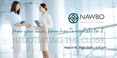 NAWBO Negotiations Workshop tickets
