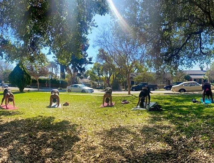 Outdoor Community Park Yoga guided by Kathy Chu (KARMA YOGA) image