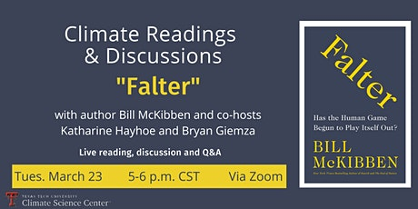 """Climate Readings & Discussions - """"Falter"""" tickets"""