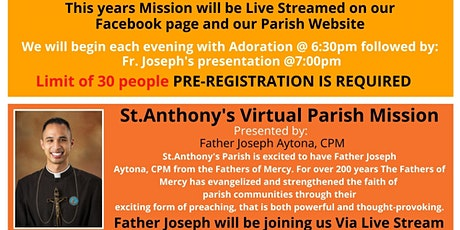 St.Anthony's Virtual Parish Mission tickets