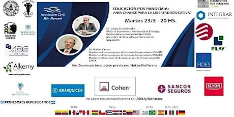 """""""EDUCACIÓN ´POS PANDEMIA: ¿UNA CHANCE PARA LA LIBERTAD EDUCATIVA? """" entradas"""