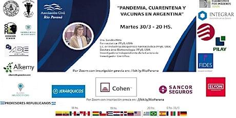 """""""PANDEMIA, CUARENTENA Y VACUNAS EN ARGENTINA"""" entradas"""