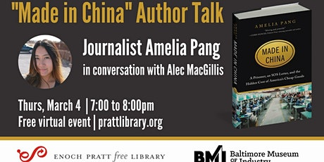 Writers LIVE! Amelia Pang, in conversation with Alec MacGillis tickets