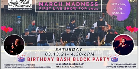 Outrageous8 Live Music Event, March Madness Birthday Bash Block Party! tickets